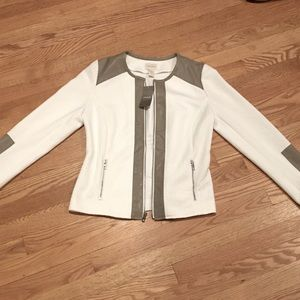 NWT Chico's Faux Suede Jacket Size Medium